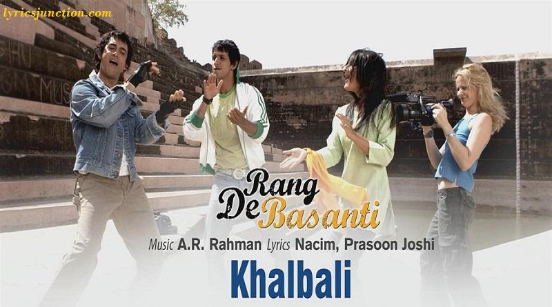 Khalbali Hai Khalbali Lyrics
